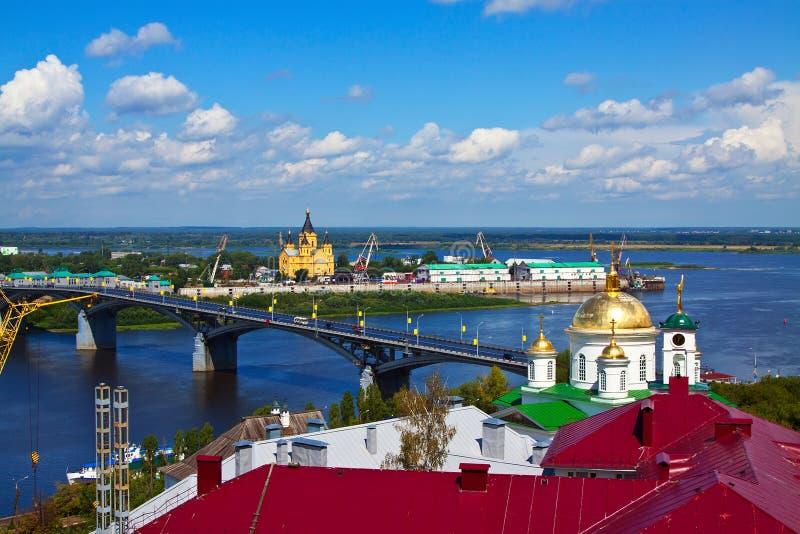 Nizhny Novgorod με Kanavinsky στοκ φωτογραφία με δικαίωμα ελεύθερης χρήσης