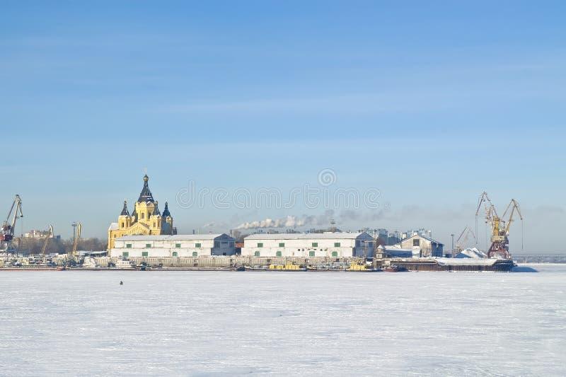 Nizhny Novgorod. Ποταμός Oka στοκ εικόνες με δικαίωμα ελεύθερης χρήσης