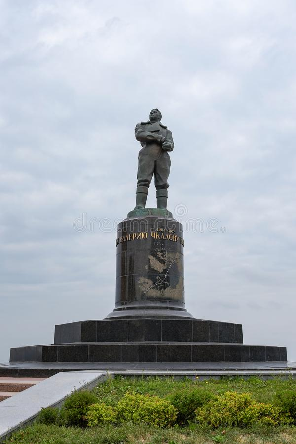 Nizhny Novgorod, Ρωσία - 4 Σεπτεμβρίου 2018: Το μνημείο στον πειραματικό Valery Chkalov στοκ φωτογραφία