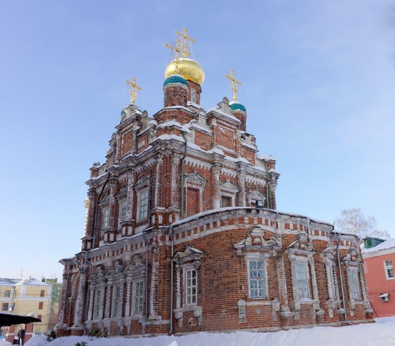 nizhny novgorod Ρωσία - 6 Φεβρουαρίου 2017 Εκκλησία της παρουσίασης του εικονιδίου του Βλαντιμίρ της μητέρας του Θεού στοκ εικόνες