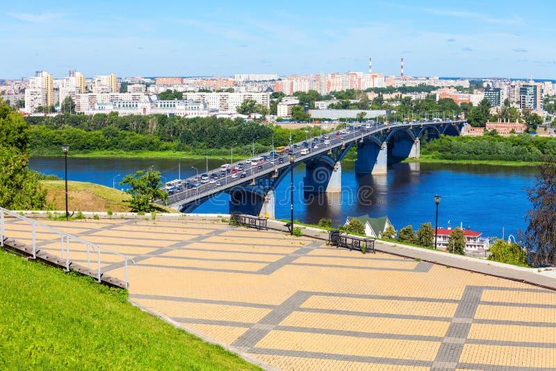 Nizhny Novgorod flyg- sikt arkivfoton