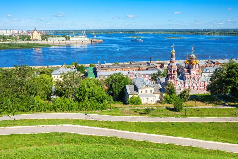 Nizhny Novgorod flyg- sikt royaltyfri foto