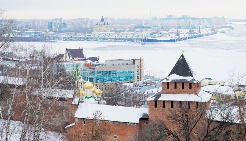 Nizhny Novgorod Kremlin, Russland lizenzfreies stockfoto