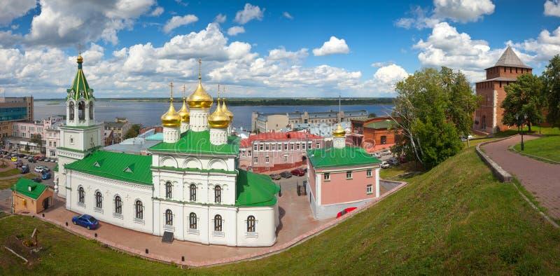 Nizhny Novgorod no dia de verão fotografia de stock royalty free