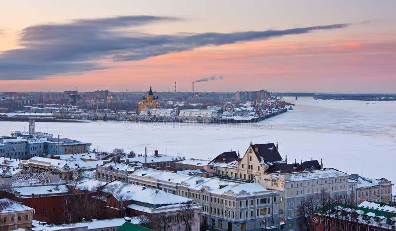 Nizhny Novgorod no inverno foto de stock royalty free