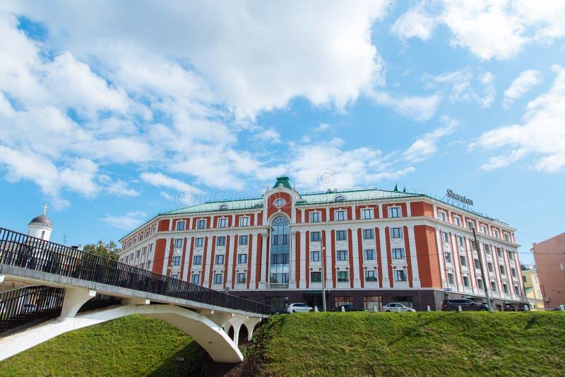 Nizhny Novgorod, Rusia, el 12 de julio de 2019 - Sheraton Hotel imagenes de archivo
