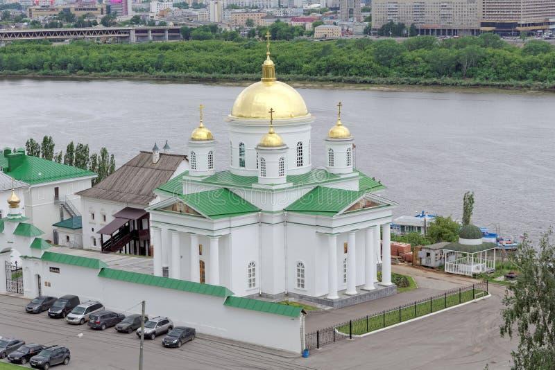 nizhny novgorod Russia - Czerwiec 6 2018 Kościół na cześć St Alexis, metropolita Moskwa w Annunciation fotografia royalty free