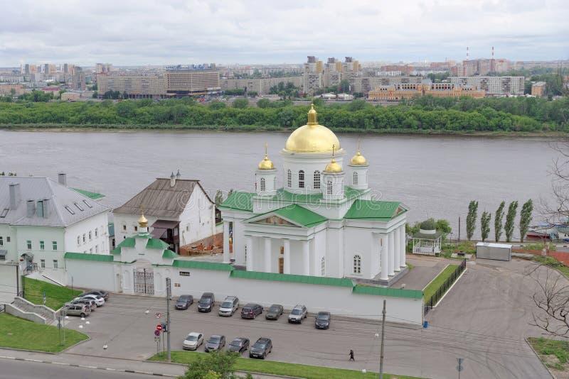 nizhny novgorod Russia - Czerwiec 6 2018 Kościół na cześć St Alexis, metropolita Moskwa w Annunciation zdjęcia royalty free