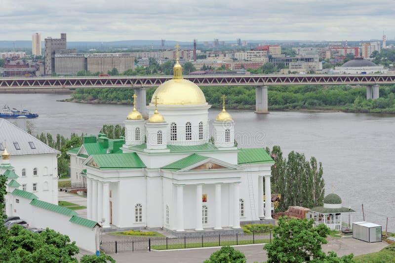 nizhny novgorod Russia - Czerwiec 6 2018 Kościół na cześć St Alexis, metropolita Moskwa w Annunciation zdjęcie stock