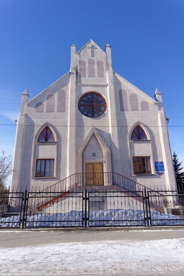 Nizhny Novgorod, Russia. - March 24.2016. Temple Seventh-day Adventist Christians on the street Shevchenko 1. Nizhny Novgorod, Russia. - March 24.2016. Temple stock photography