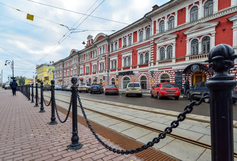 Nizhny Novgorod, Russia - November 02.2015. architectural monument - Building of Partnership for Machine-Building Production - royalty free stock photos