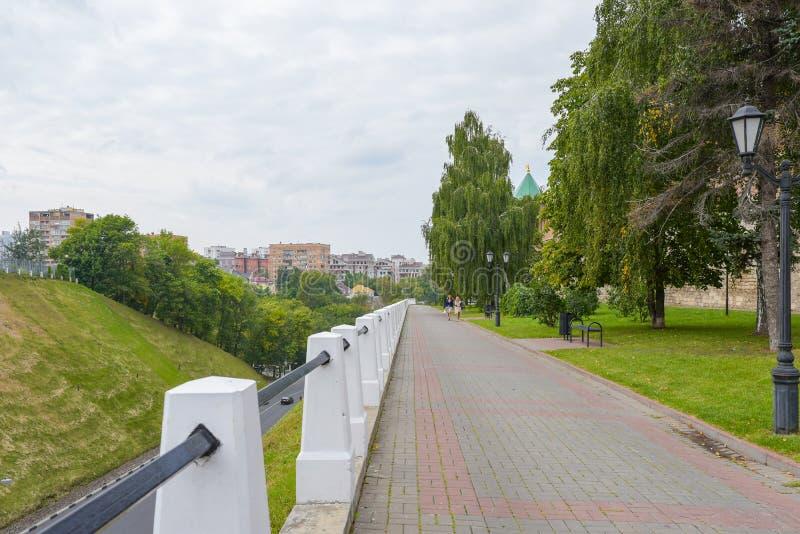 Nizhny Novgorod, Russia - September 4, 2018: The Kremlin Boulevard royalty free stock image