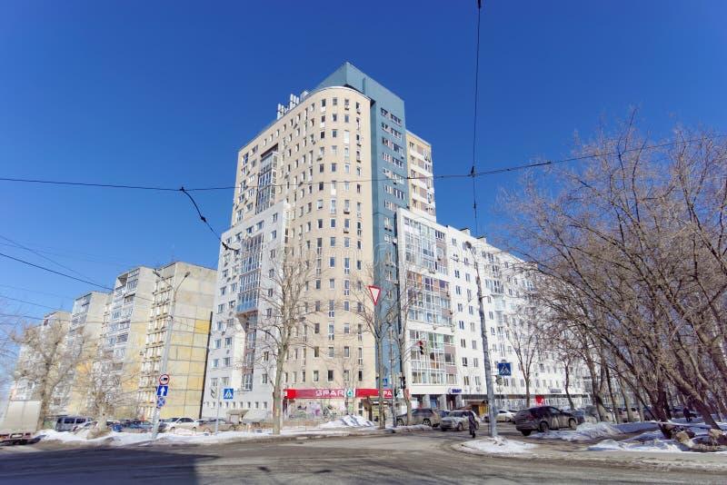 Nizhny Novgorod, Russie - 29 mars 2018 Maison à plusiers étages résidentielle sur la rue 65 de Malaya Yamskaya photos libres de droits