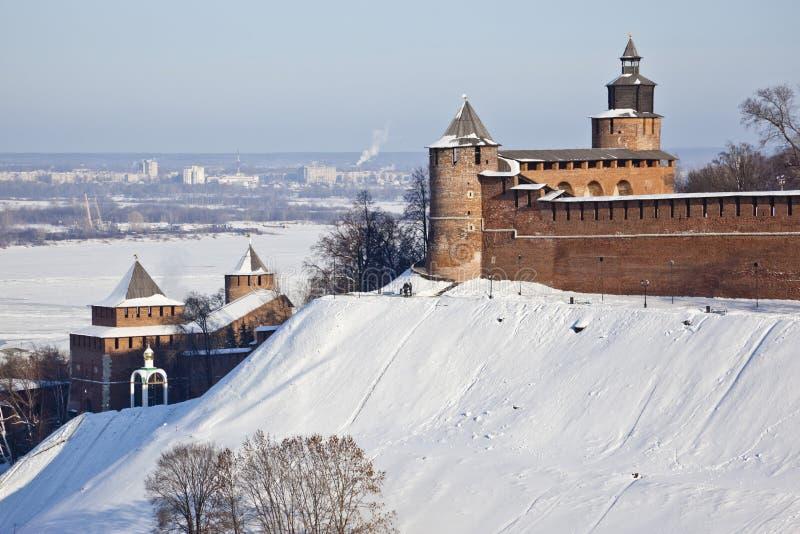Nizhny Novgorod vinter arkivbilder
