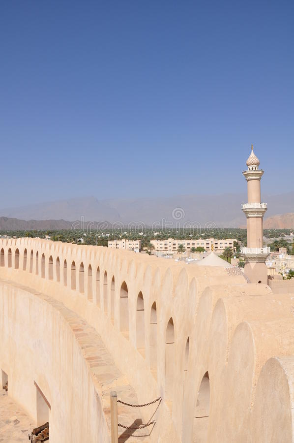 Nizwa Castle, Oman royalty free stock photo