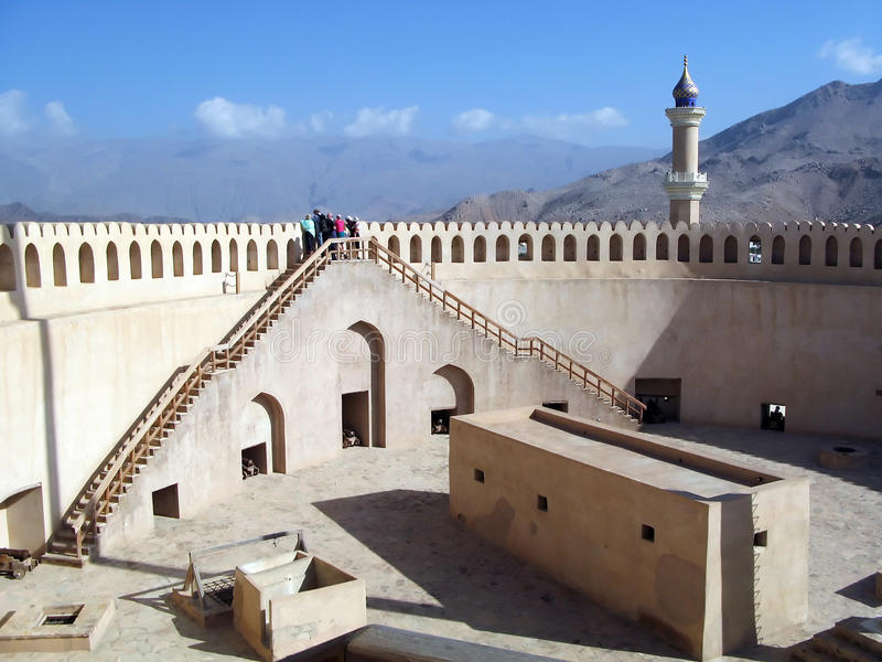 Download Nizwa Fort in Oman stock photo. Image of middle, city - 22362888