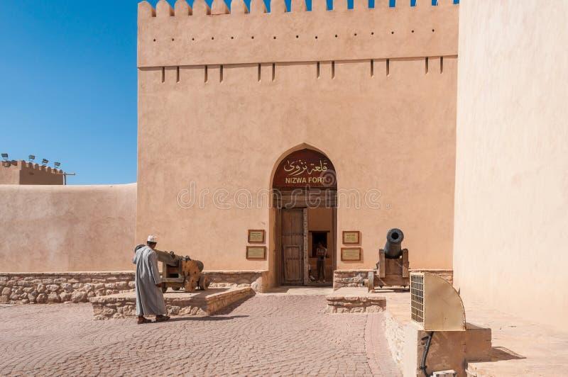 Nizwa-Fort, Oman stockfotos