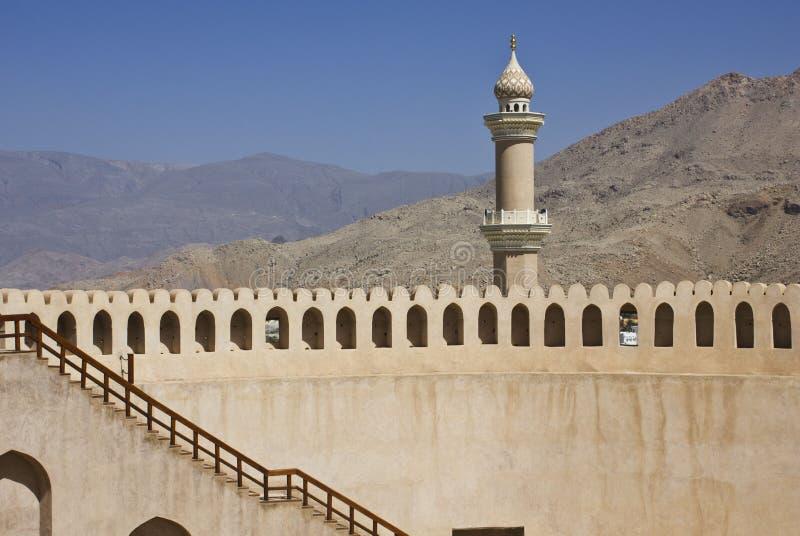 Nizwa fortu kasztel, Oman zdjęcie royalty free