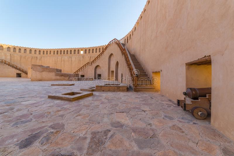 Historic Fort of Nizwa, in Oman royalty free stock photography