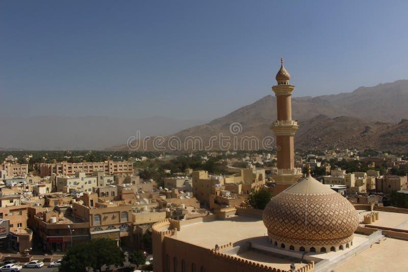 Nizwa Oman od swój xvii wiek fortecy fotografia royalty free