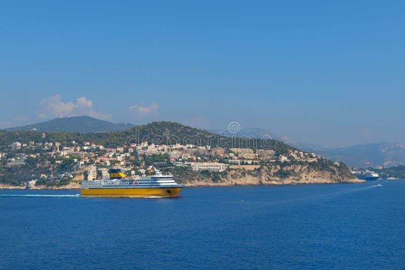 Nizza an der französischen Küste stockbild
