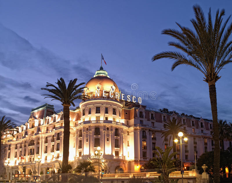 Nizza Frankreich - - Hotel Negresco stockfotografie
