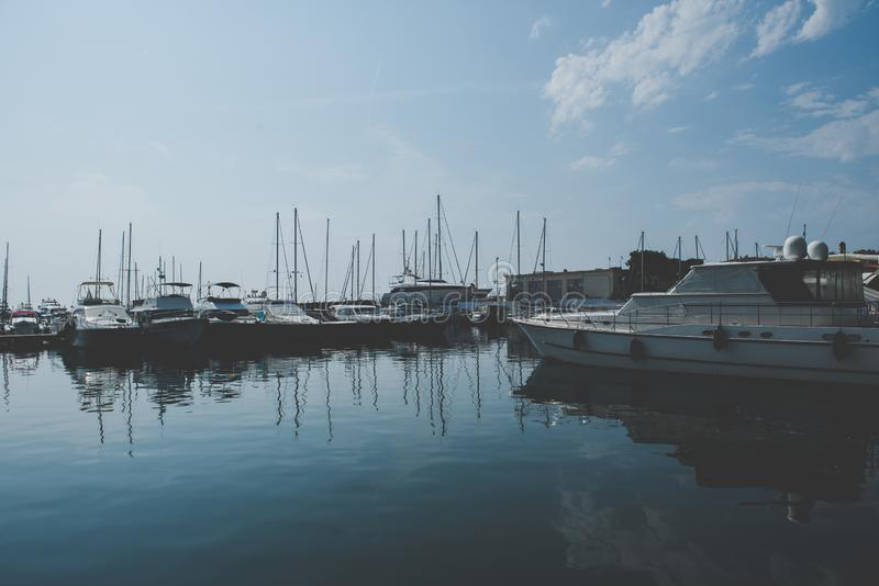 Nizza Hafen -, Frankreich lizenzfreies stockfoto
