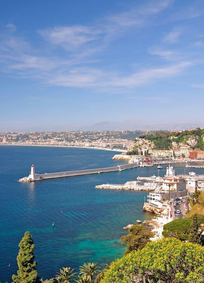 Nizza, la Côte d'Azur, sud de la France images libres de droits
