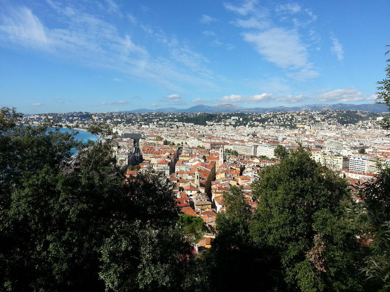 Nizza Sunny Nice City Sea View royalty free stock photo