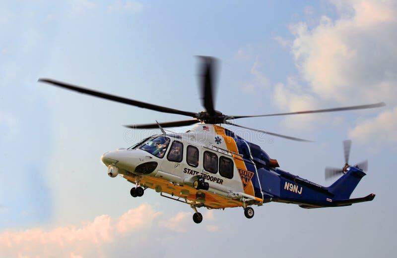 NJ州警官直升机 免版税库存照片