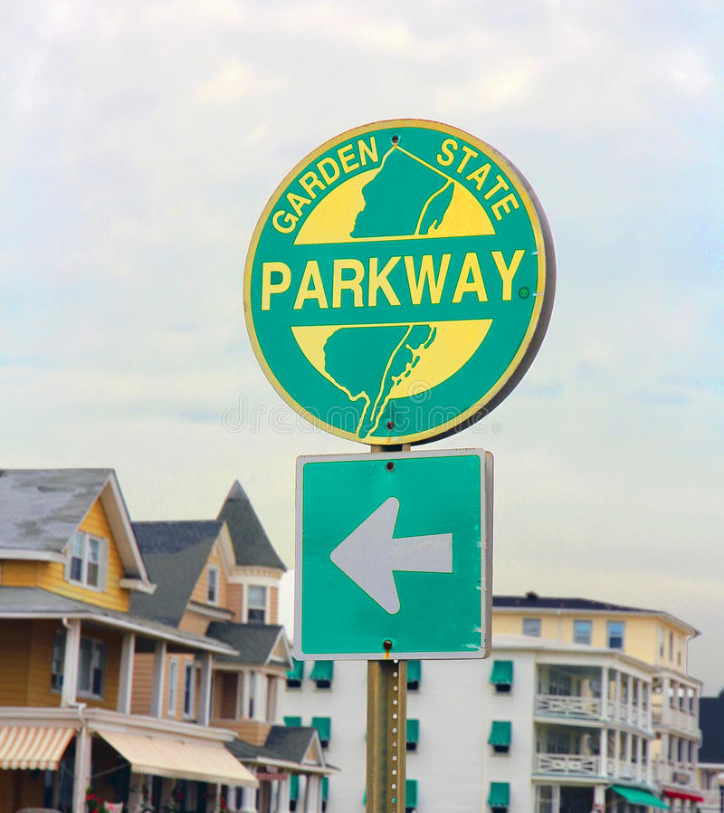 NJ σημάδι χώρων στάθμευσης στοκ φωτογραφία με δικαίωμα ελεύθερης χρήσης