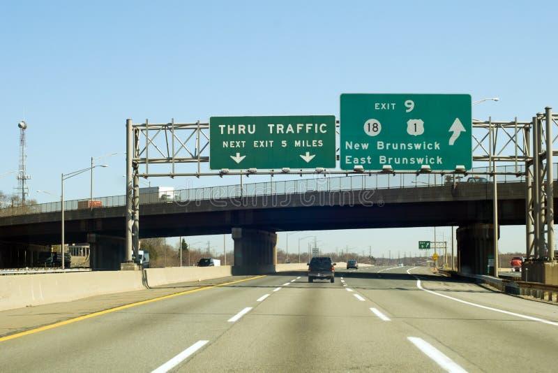NJ-Turnpike lizenzfreie stockfotos