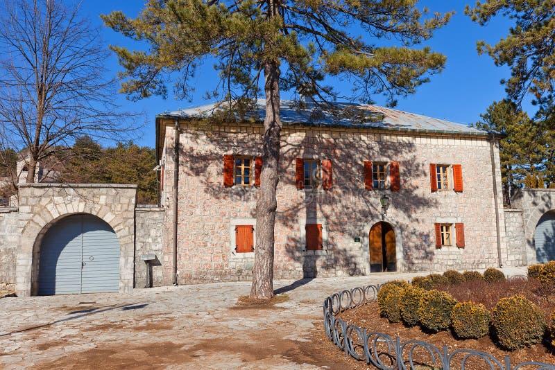Njegos住所(Biljarda, 1838)在采蒂涅,黑山 免版税库存图片