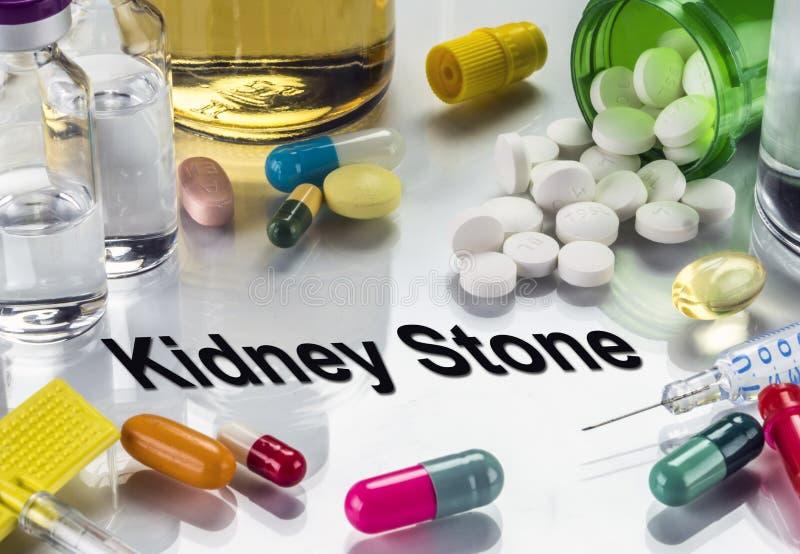 Njuresten Mediciner som begrepp av vanlig behandling royaltyfria foton