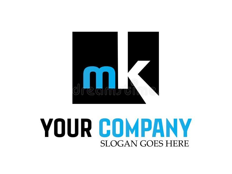 Nk Logo Design Vetora moderno da letra ilustração do vetor