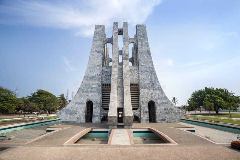 Nkrumah Memorial Park, Accra, Ghana. Nkrumah Memorial Park - First president of independent Ghana, West Africa stock image