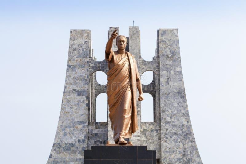 Nkrumah Memorial Park, Accra, Ghana. Nkrumah Memorial Park - First president of independent Ghana, West Africa royalty free stock images