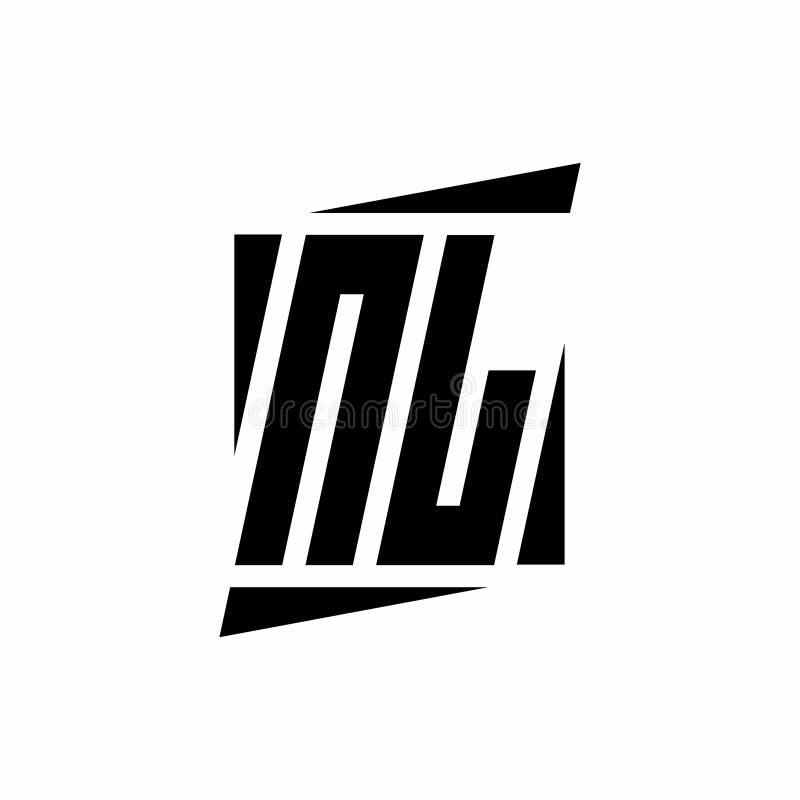 Nl Logo Monogram With Modern Style Concept Design Template Stock Vector Illustration Of Modern Font 176708273