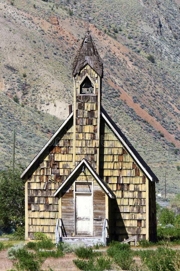 Nlak'pamux Church Spences Bridge. Nlak'pamux Church is an old Anglican church in Spences Bridge, British Columbia, Canada. The church is also royalty free stock image