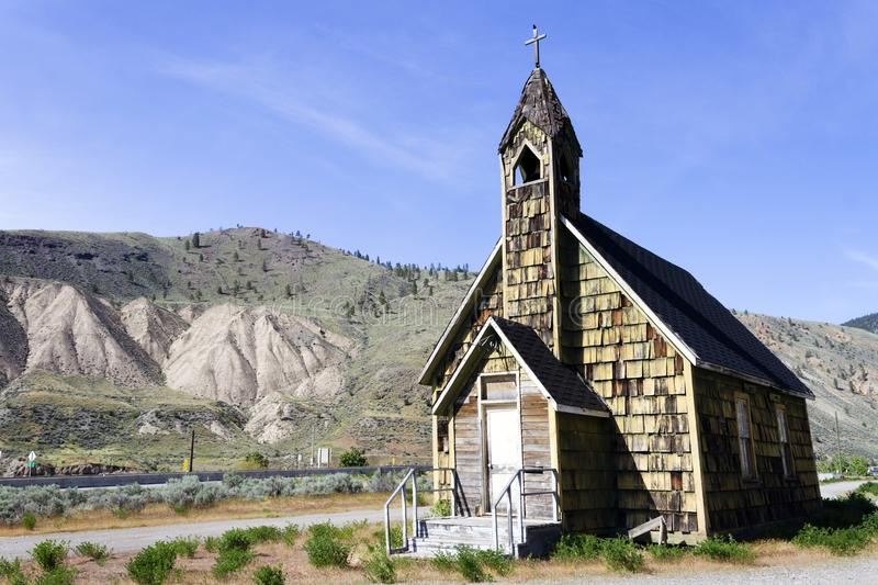 Nlak'pamux Church Spences Bridge. Nlak'pamux Church is an old Anglican church in Spences Bridge, British Columbia, Canada. The church is also stock photo