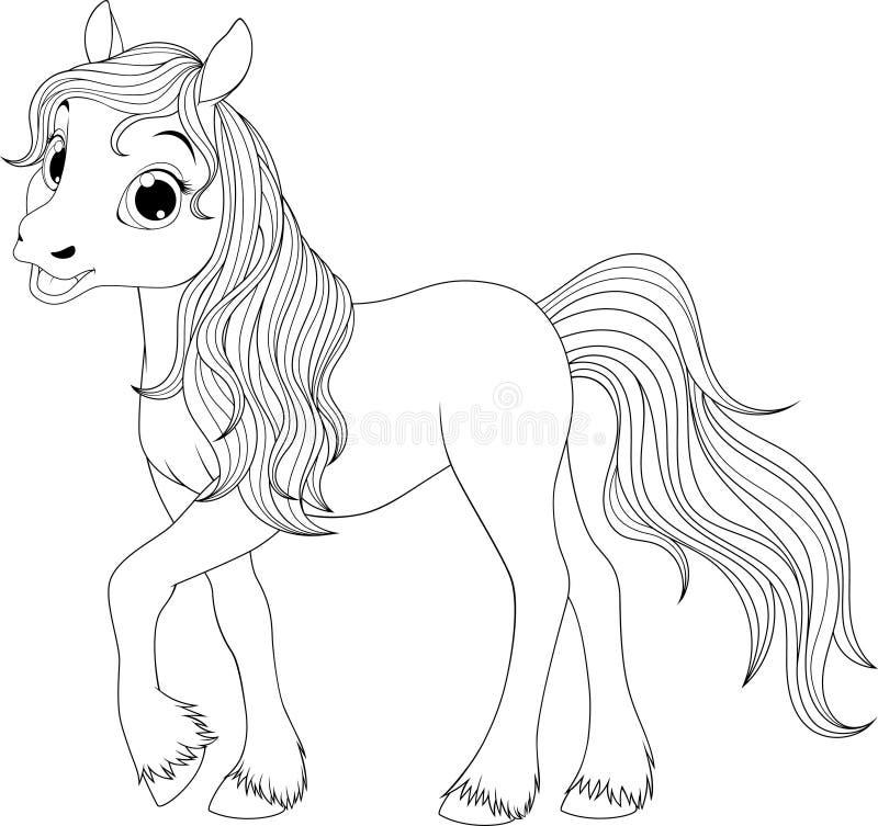 NLittle funny foal vector illustration