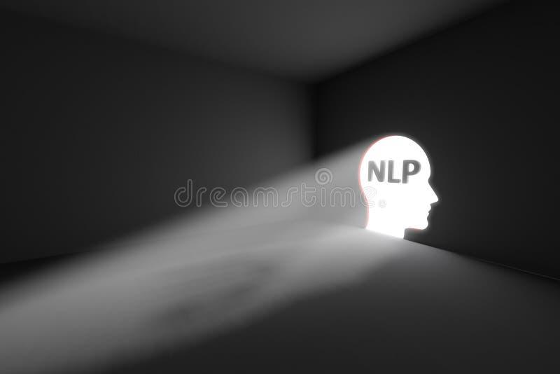 NLP het lichte concept van het stralenvolume royalty-vrije illustratie
