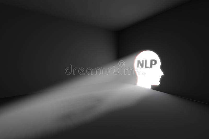 NLP rays volume light concept royalty free illustration