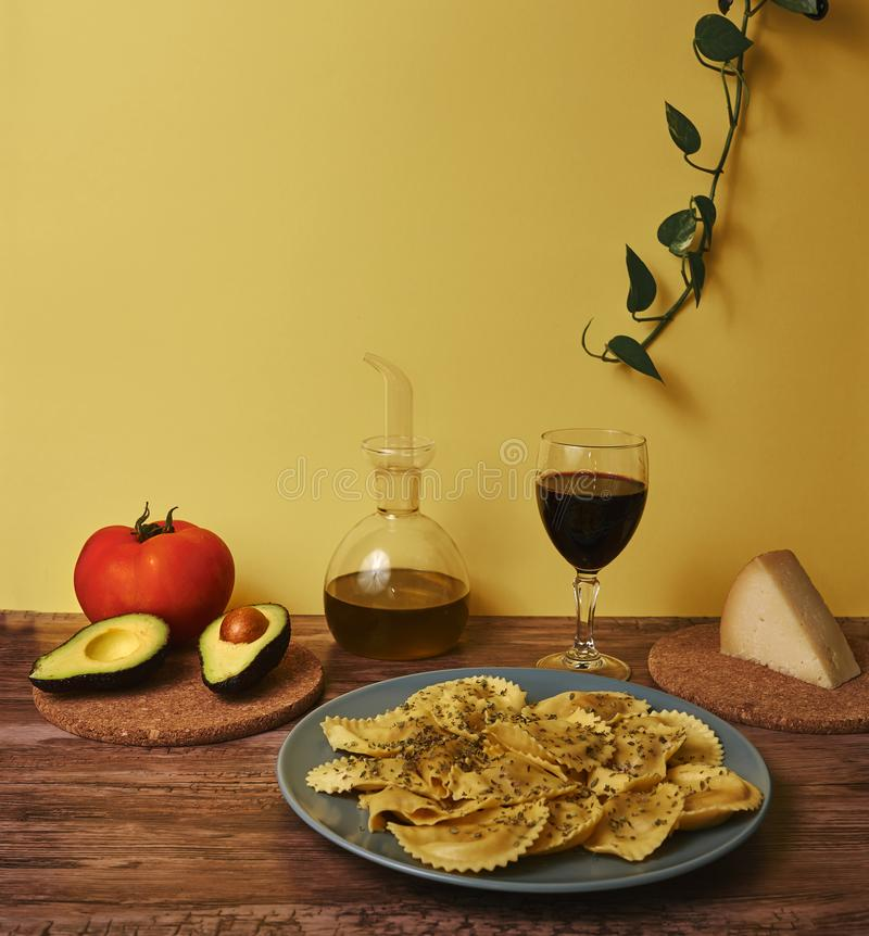 Photography of mediterranean food, typical Andalusian gastronomy. stock image