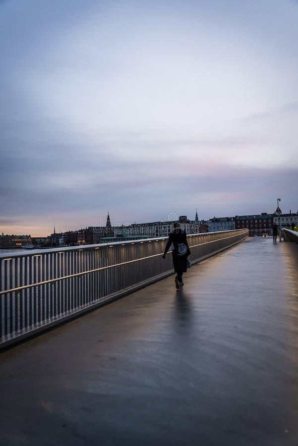 Nner Harbour bridge located by Nyhavn, Copenhagen, Denmark royalty free stock photo