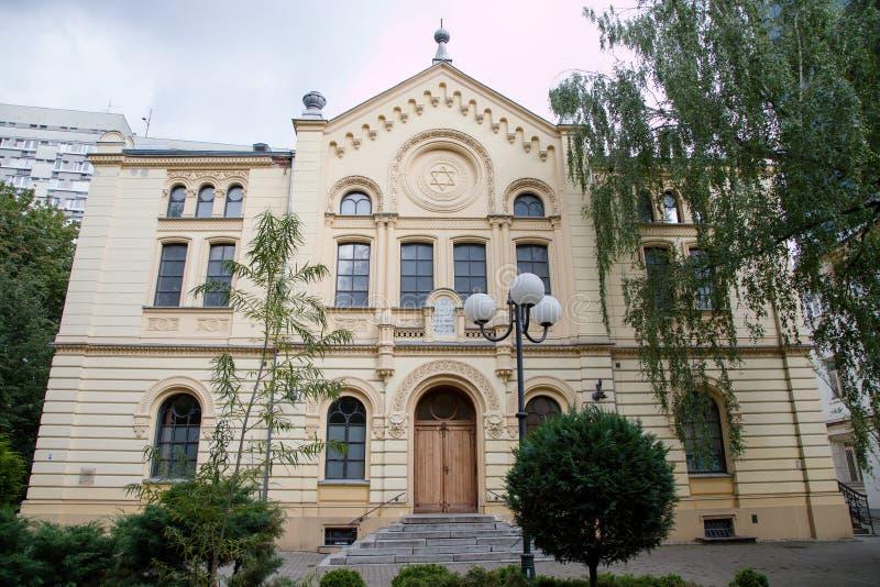 NoÅ ¼ yk synagoga w Warszawskim mieście, Polska, Europa zdjęcia royalty free