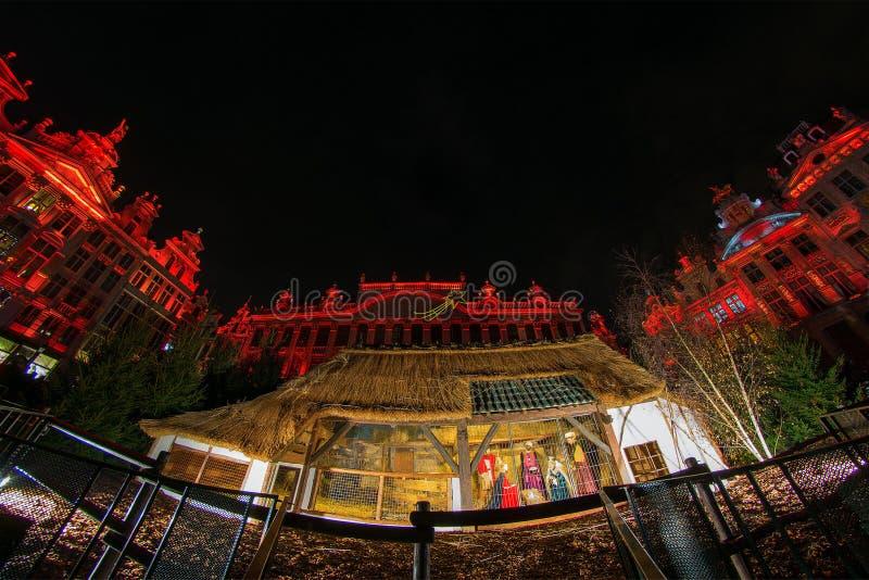 Noël à Bruxelles photographie stock libre de droits
