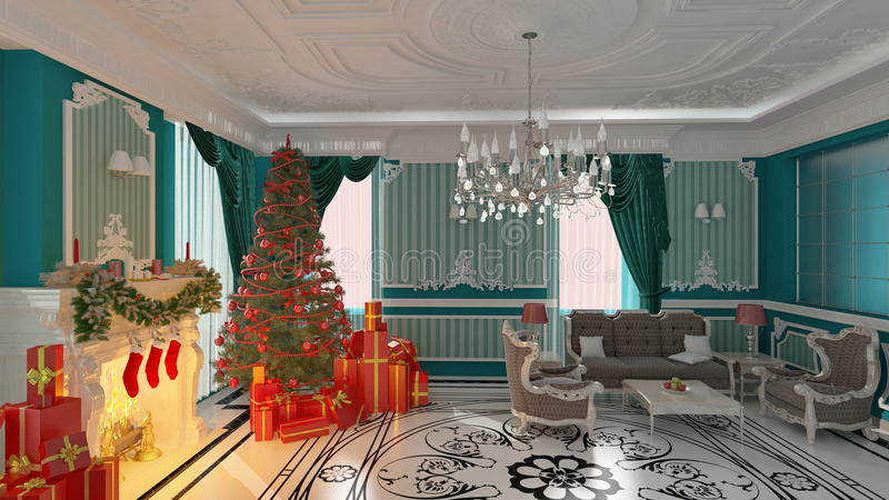 Noël à la maison illustration stock