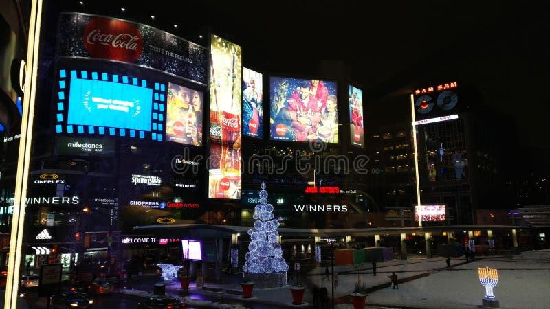 Noël à la place de Yonge Dundas photographie stock libre de droits