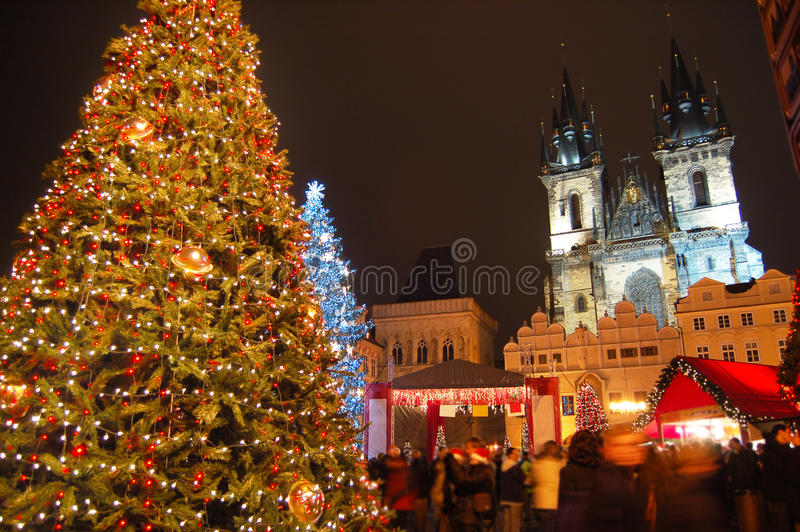 Noël à Prague photographie stock
